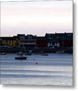 Twilight In The Harbor At Skerries Metal Print