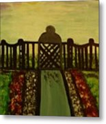 Twilight In The Park Metal Print by Marie Bulger