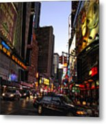 Twilight In The Streets Metal Print