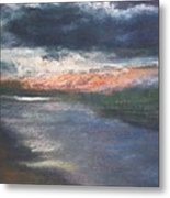 Twilight On The Canal Metal Print