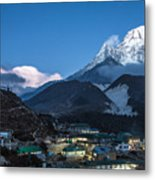 Twilight Over Pangboche In Nepal Metal Print