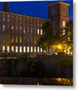 Twilight Over The Cocheco Mills Dover New Hampshire Metal Print