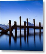 Twilight Piers Metal Print