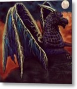 Twilight Storm Dragon Metal Print