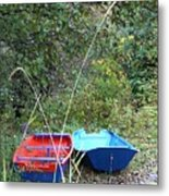 Twin Boats Bella Coola Bc Metal Print
