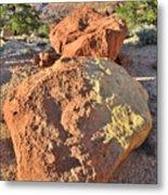 Twin Boulders Metal Print