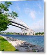 Twin Bridges Metal Print