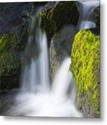 Twin Cascades Metal Print