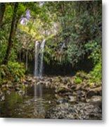 Twin Falls, Maui Metal Print