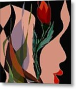 Twin Fire Flower Head 2 Metal Print by Navo Art