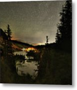 Twin Lakes Night Panorama Metal Print