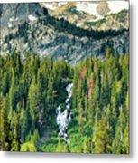 Twin Lakes Waterfall Metal Print