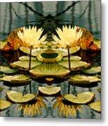 Twin Pond Lillies Metal Print