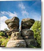 Twin Rocks At Brimham Metal Print