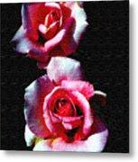 Twin Roses Metal Print