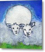 Twin Sheep Metal Print