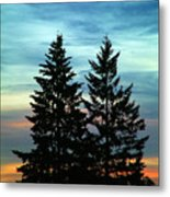 Twin Trees Metal Print