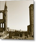 Twin Turrets And St. Rule's Tower Metal Print