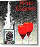 Twink Wine Glasses Metal Print
