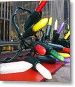 Twinkle Lights In New York City Metal Print