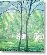Twins By The Lake Metal Print