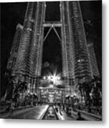 Twintowers At Night Metal Print