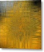 Twirl Art Yellow  Metal Print