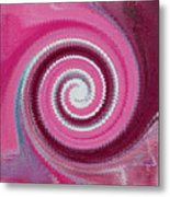 Twirl Pink  Metal Print