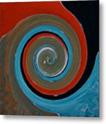 Twirl Red 01 Metal Print