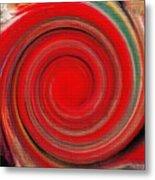 Twirl Red-0951 Metal Print