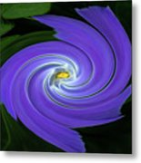 Twirling Flower Pedals Metal Print
