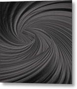 Twist To Black  - Black And Gray Art Metal Print