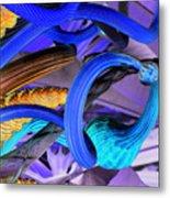 Twisted Blue Metal Print