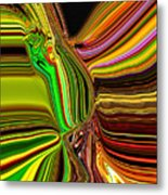 Twisted Glass Metal Print