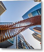 Twisted Horn Metal Print