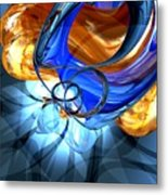 Twisted Spiral Abstract Metal Print