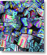 Twisted Text And Colors Metal Print
