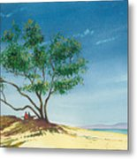 Two At The Beach Metal Print