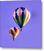 Two Balloons In The Clear Blue Sky  Metal Print