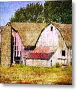Two Barns And A Silo Metal Print