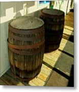 Two Barrels Metal Print