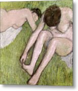 Two Bathers On The Grass Metal Print