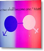Two Become One Metal Print