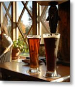 Two Beers At The Lodge Metal Print