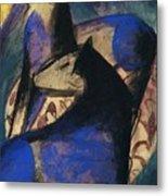 Two Blue Horses 1913 Metal Print