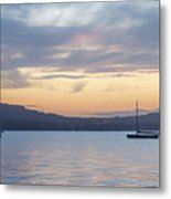 Two Boats In Blue Holywood Metal Print