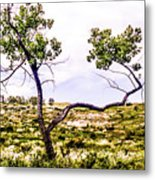 Two Branches Metal Print