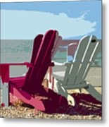 Two By The Shore Metal Print