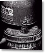 Two Cans - Bw Metal Print