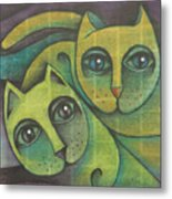 Two Cats  2000 Metal Print